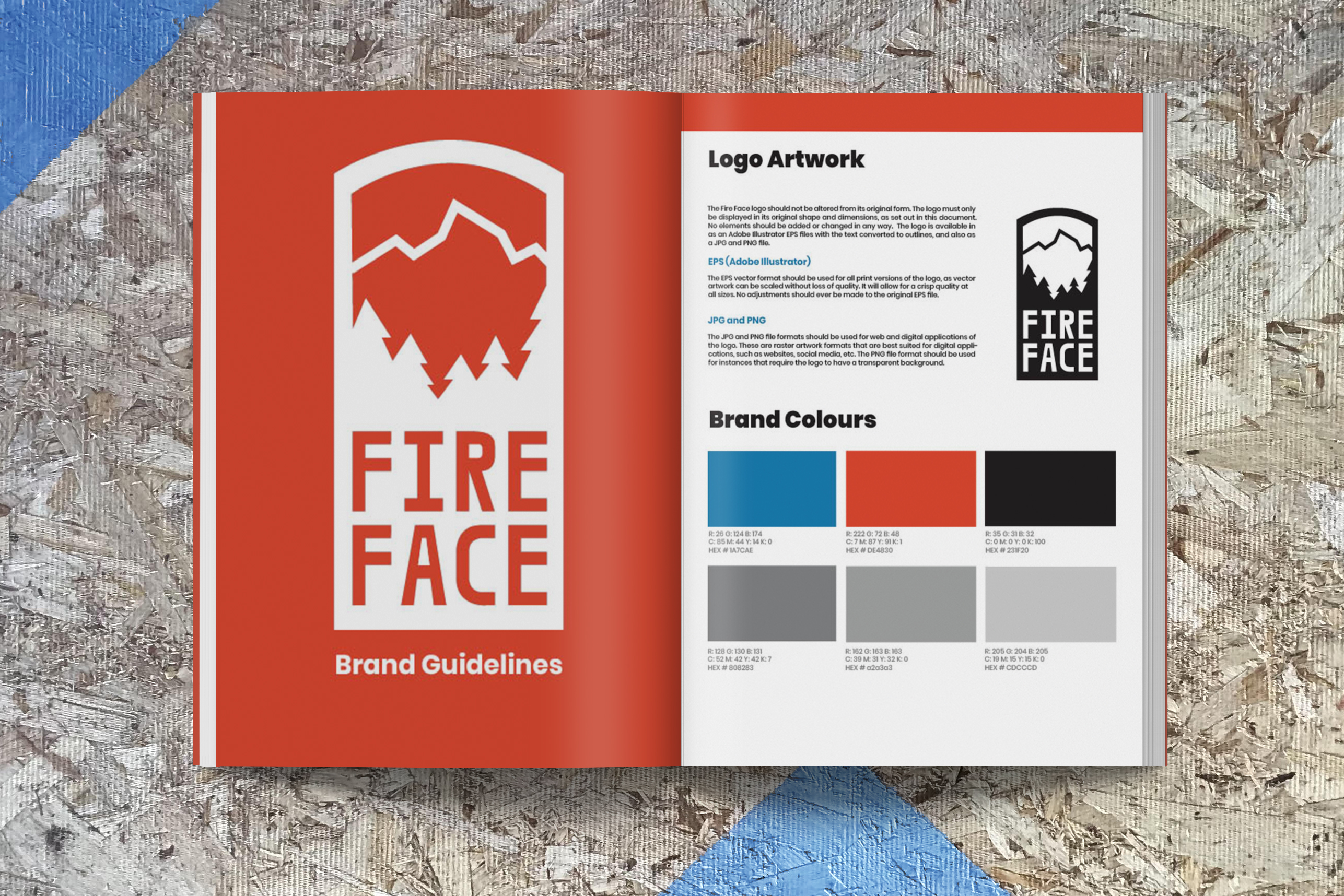 Image of the first page of the fire face brand guide