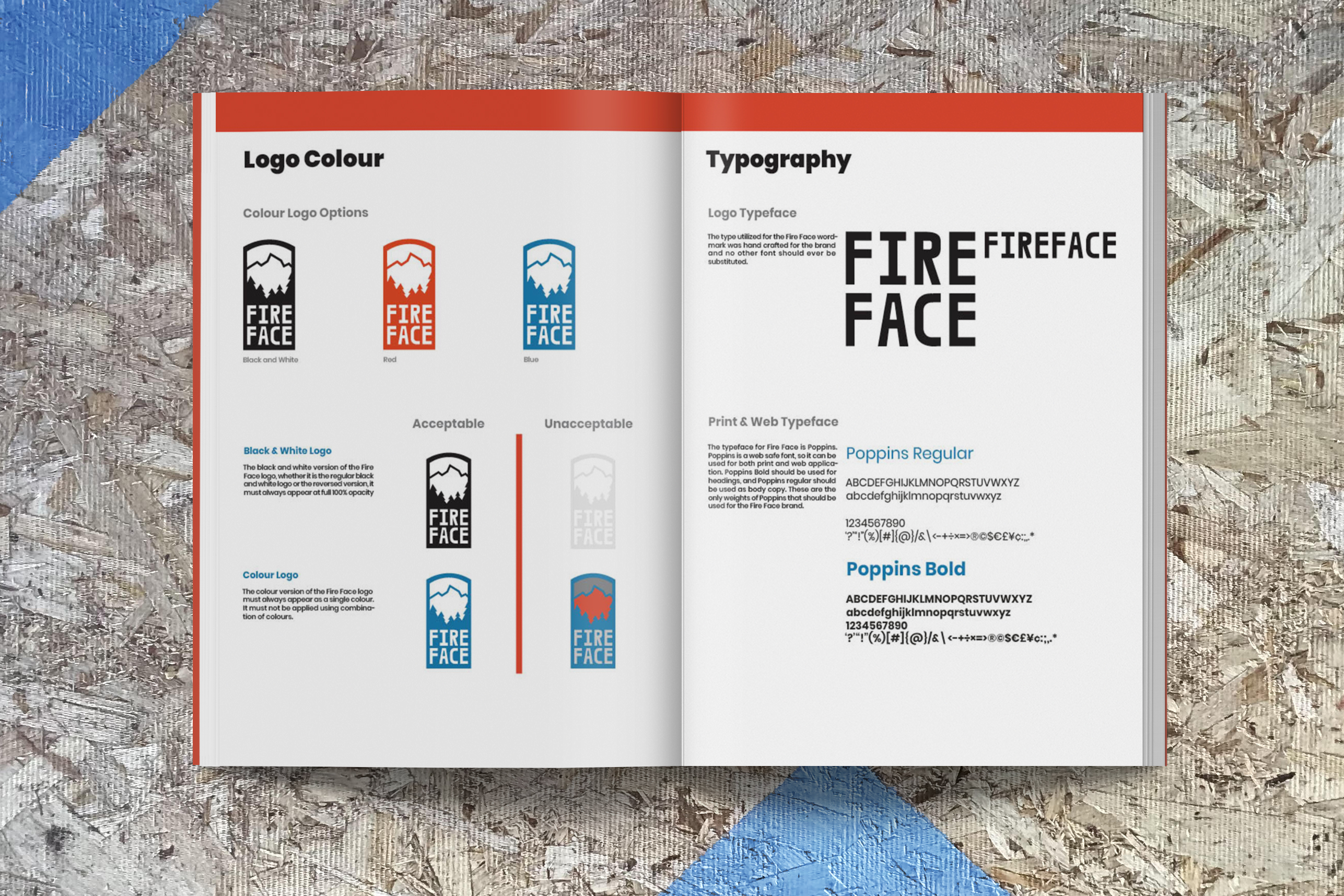 Image of the second page of the fire face brand guide