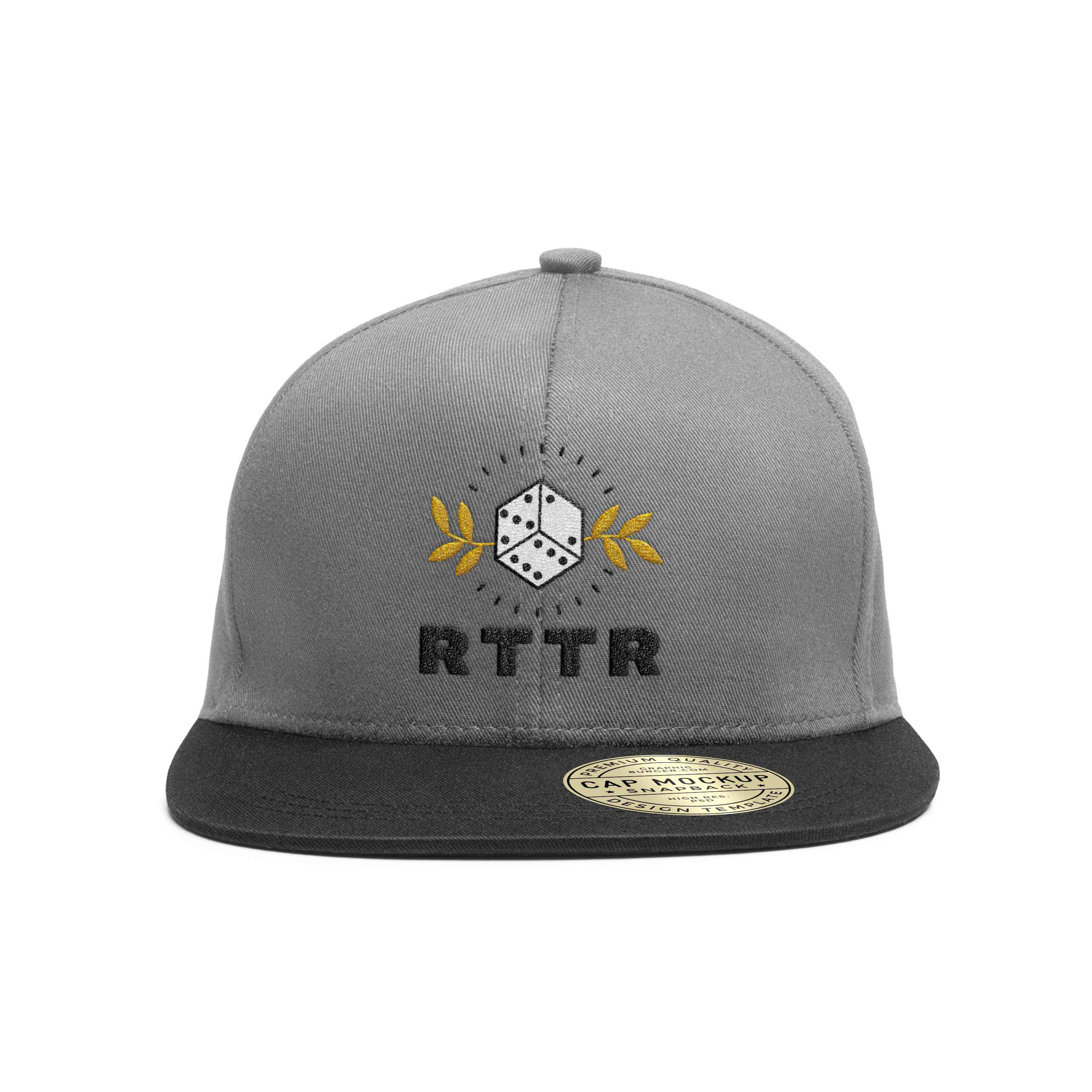Image of the new RTTR logo applied to a hat