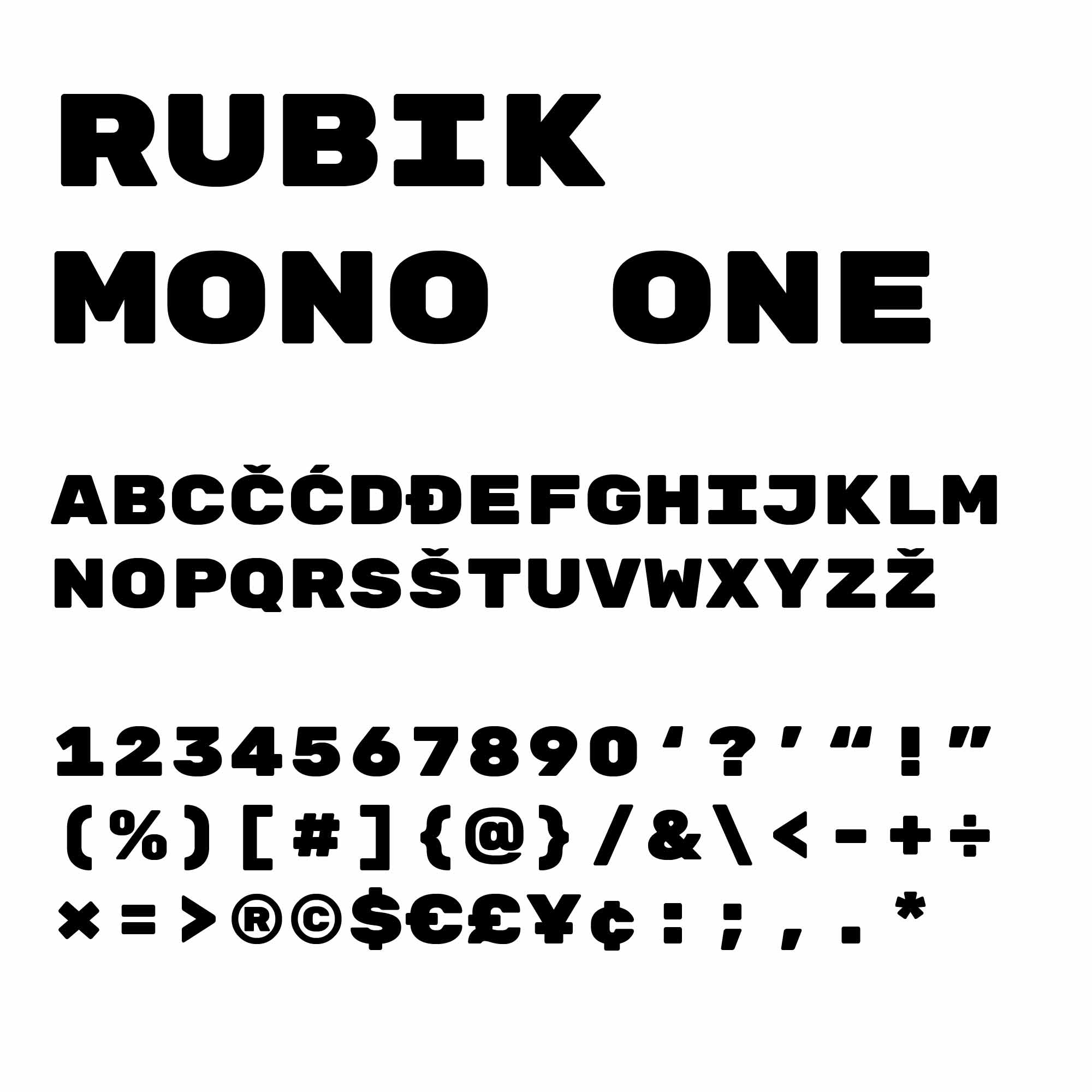 Image of the typeface used in the RTTR brand