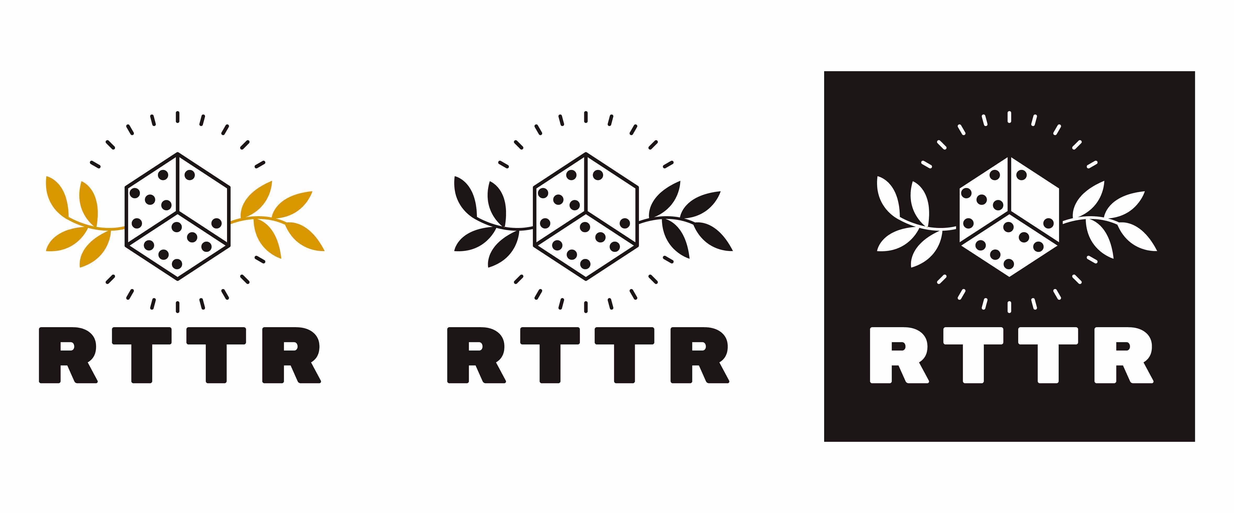 Image of the various colour variations for the new RTTR logo